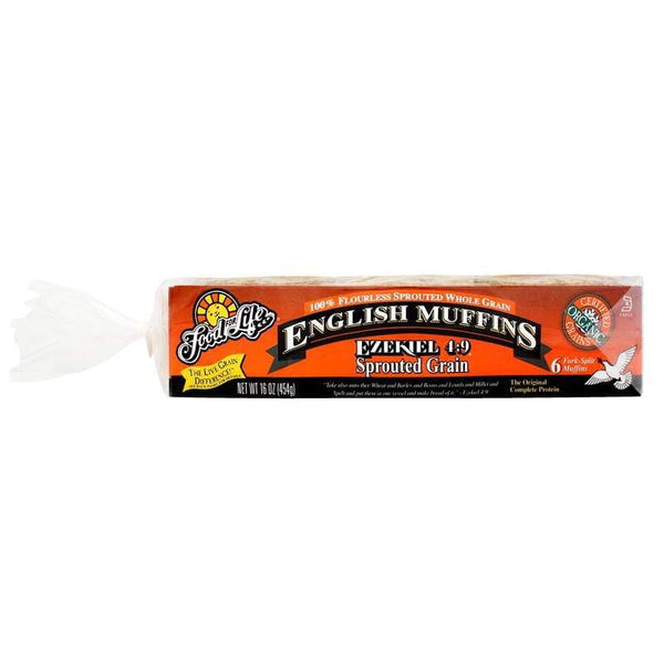 Ezekiel 4:9 Sprouted Whole Grain English Muffins 454g