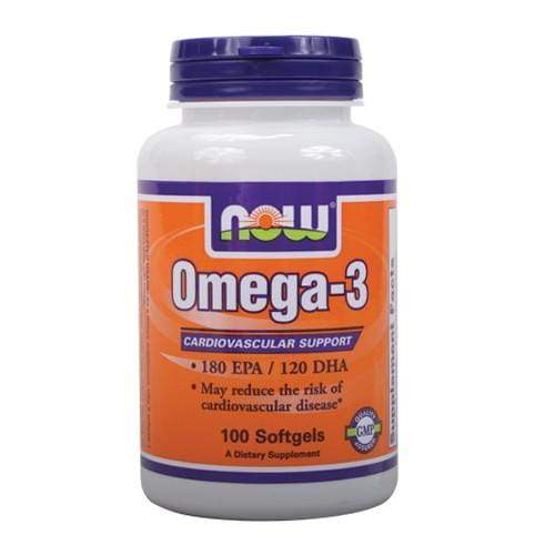 NOW Foods Molecularly Distilled Omega-3,  100 soft gels