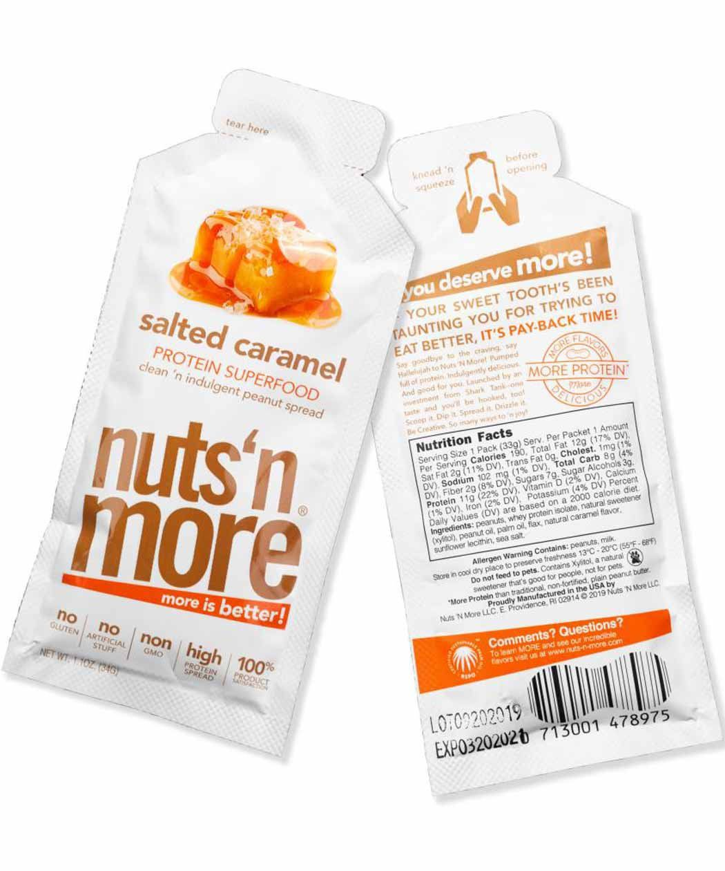 Nuts 'N More Salted Caramel Peanut Butter Single Serving 34g