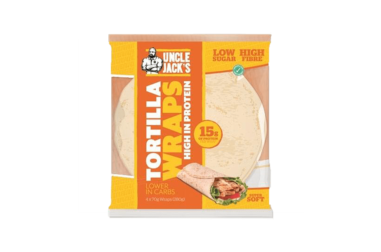 Uncle Jack's High Protein Tortilla Wraps 280g