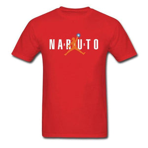 tshirt air naruto rouge style air jordan