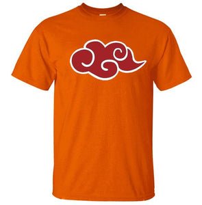 tshirt homme orange logo akatsuki