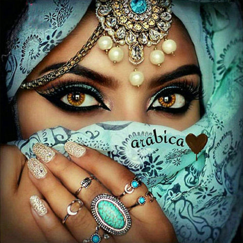 Diamond Painting - Arabic Eyes - erfolgslounge24