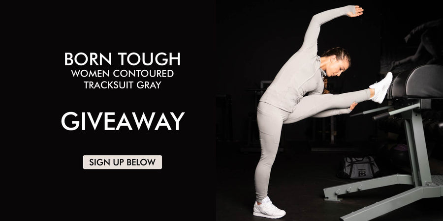 Born Tough Women Contoured Tracksuit Gray Giveaway
