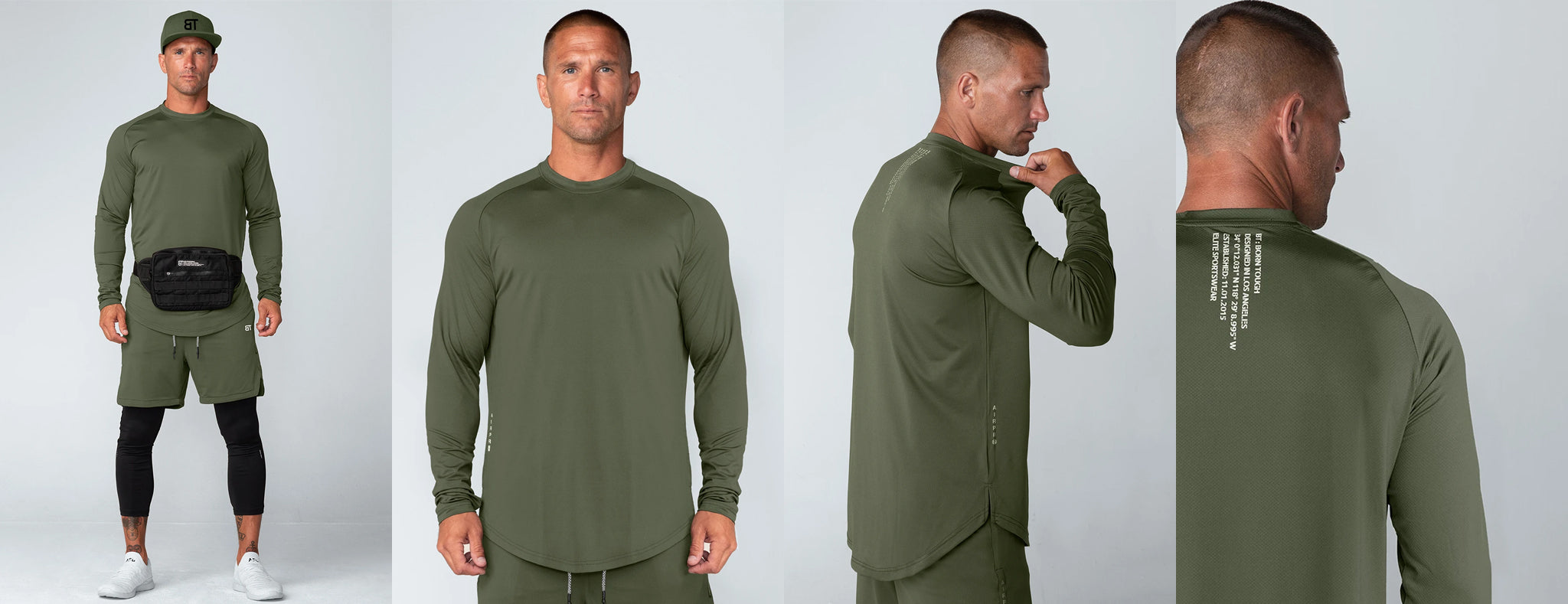 Born Tough Air Pro Long Sleeve Fitted Tee Shirt For Men