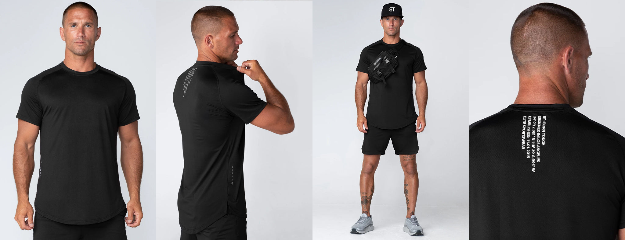 Born Tough Men Air Pro Fitted Workout Tee