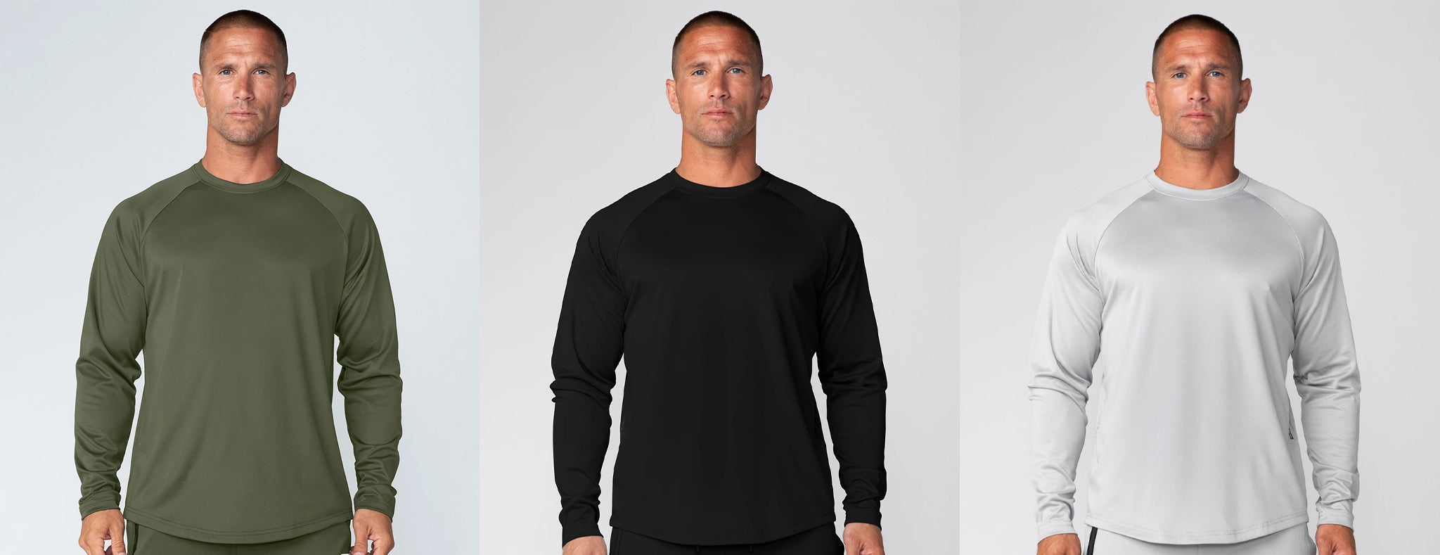 Born Tough Momentum Long Sleeve Fitted Workout Shirt For Men
