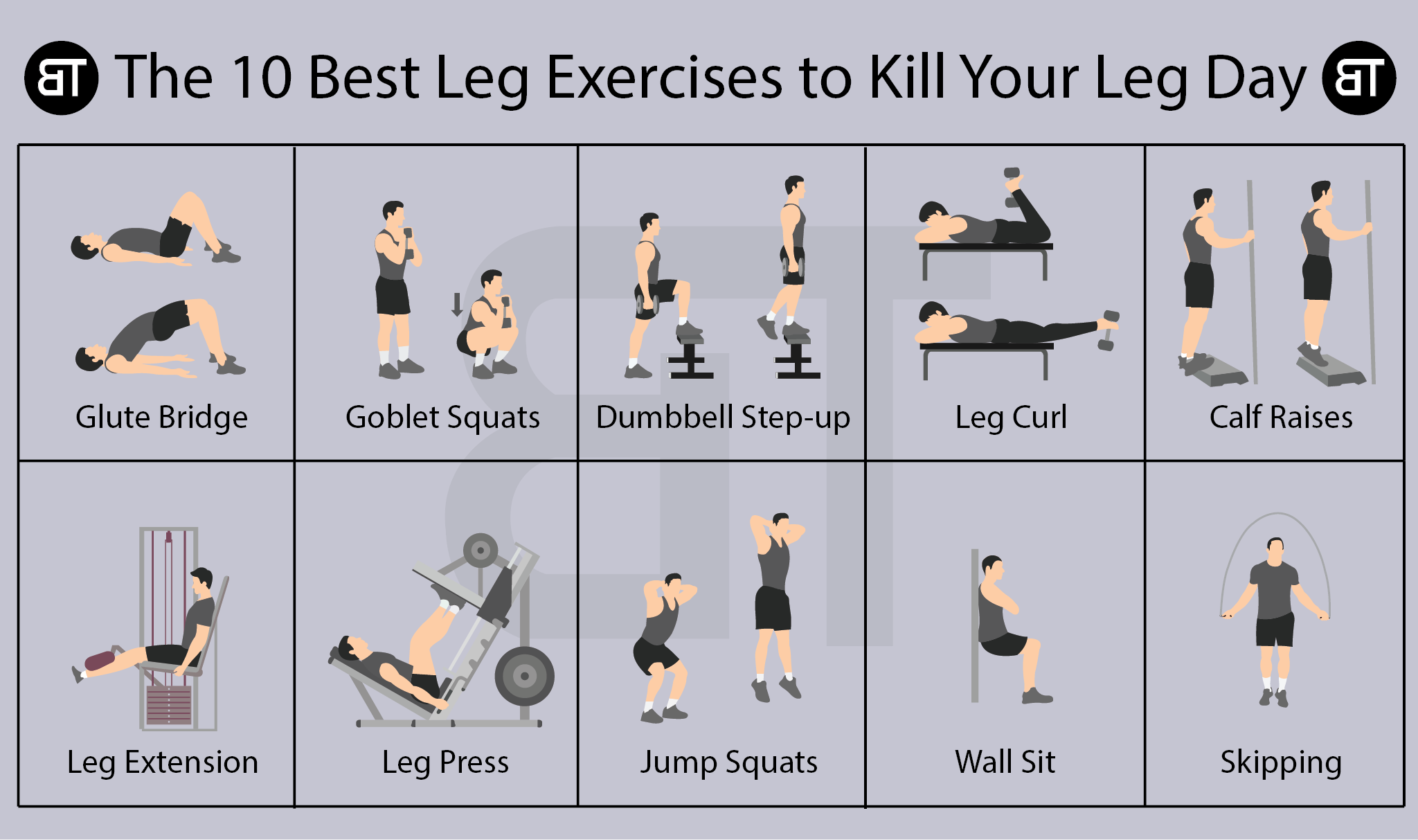 The 10 Best Leg Exercises to Kill Your Leg Day