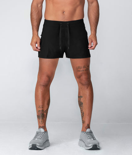 Born Tough Plain 5 Inch Inseam Crossfit Workout Shorts For Men Black