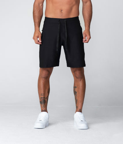 Born Tough Plain 9 Inch Inseam Crossfit Workout Shorts For Men Black