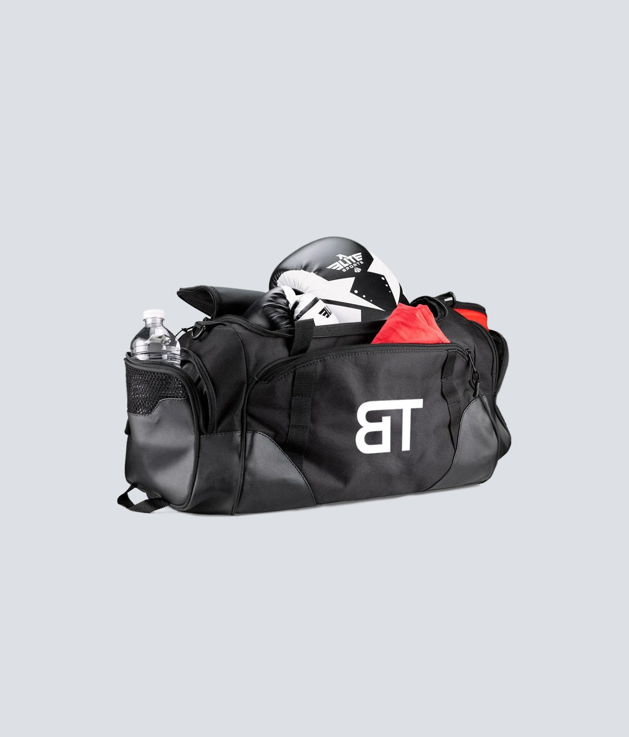 Born Tough 2 Zippered Side Pockets Black Gym Workout Duffel Bag