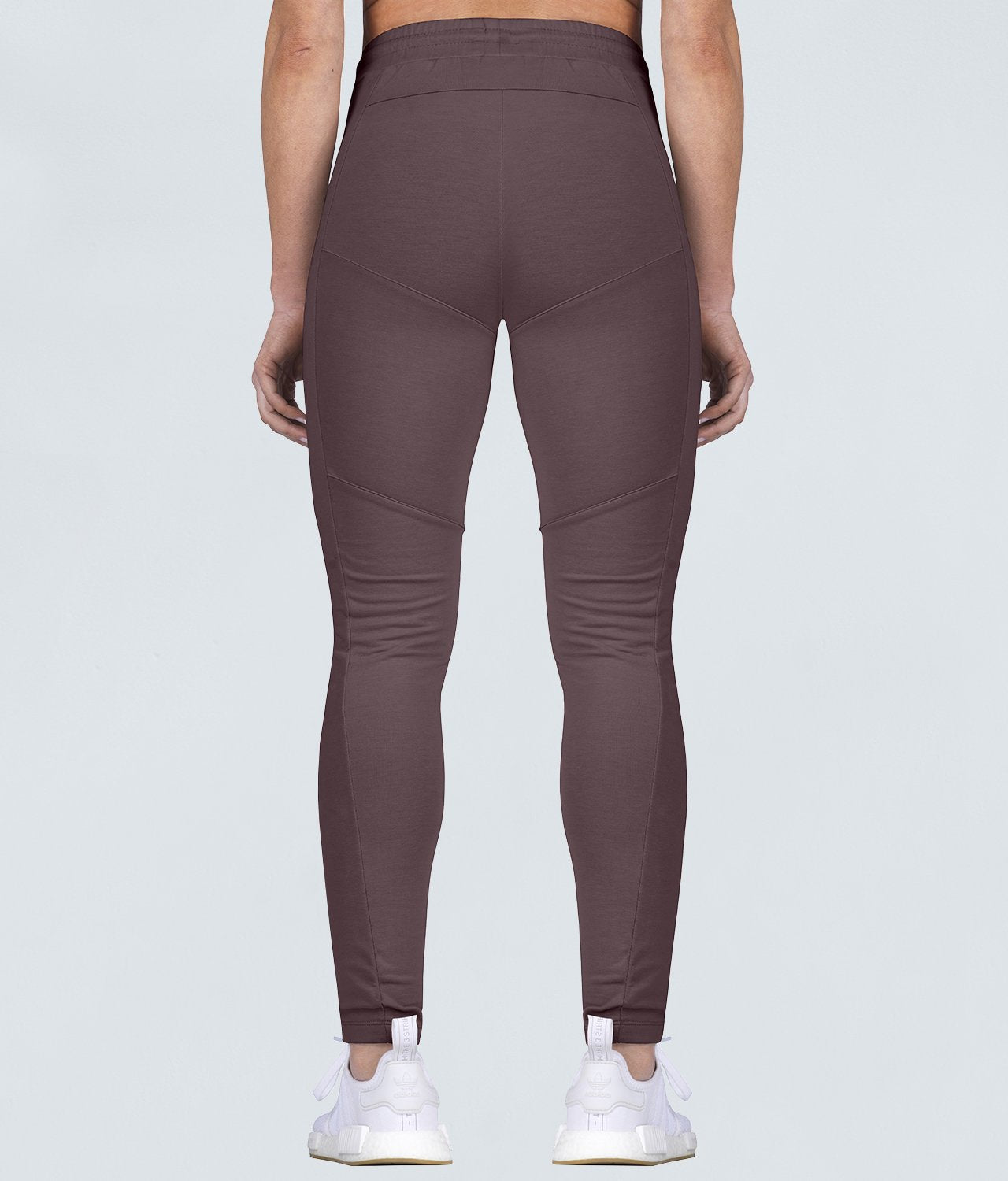 Born Tough Contoured Elastic Pocket Ash Brown Gym Workout Tracksuit Jogger Leggings for Women