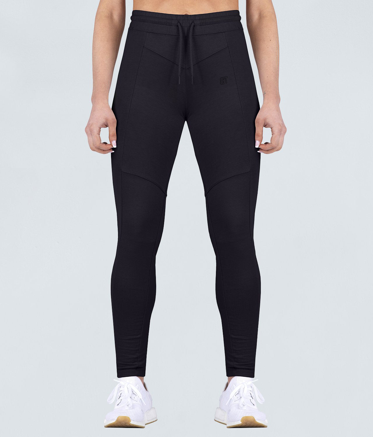 Born Tough Contoured Flexible Fabric Black Crossfit Tracksuit Jogger Leggings for Women