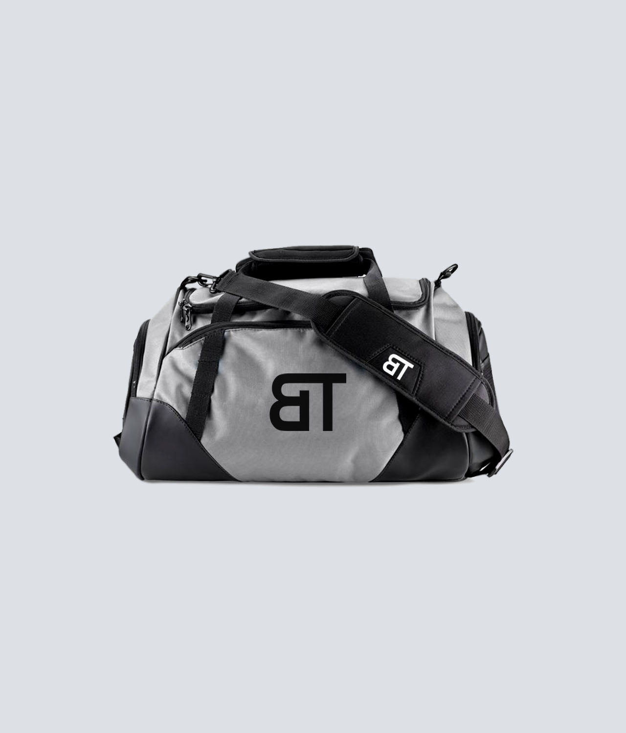 Born Tough Polyester 600D Fabric Gray Gym Workout Duffel Bag