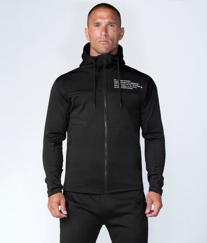 Born Tough Momentum Extremely Comfortable Drawstrings Black Running Hoodie for Men