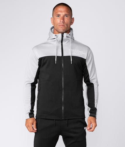 Born Tough Men Momentum Track Suit Hoodie Grey/Black