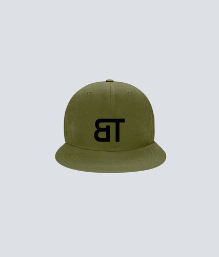 Born Tough Snapback Cap/Hat Military Green