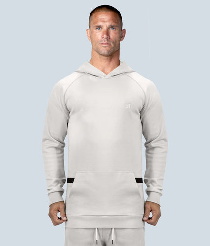 Born Tough Zippered Stone Signature Tech Fabric Long Sleeve Bodybuilding Hoodie for Men