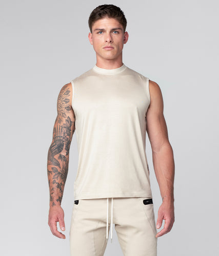 Born Tough Stone Curved Hems Sleeveless Athletic Shirt For Men