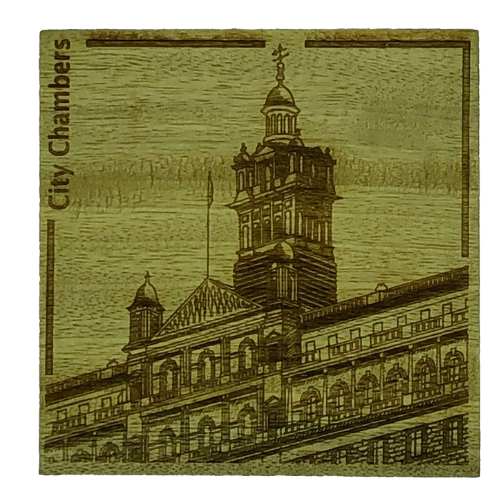 Glasgow landmark coasters - City Chambers