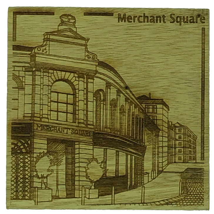 Glasgow landmark coasters - Merchant Square
