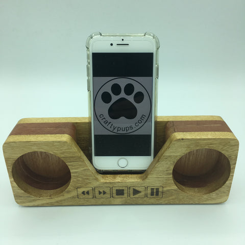 Eye-catching wooden mobile phone stand and passive speaker
