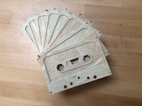 Go retro with these handmade wooden cassette tapes, personalised for the music lover in your life!