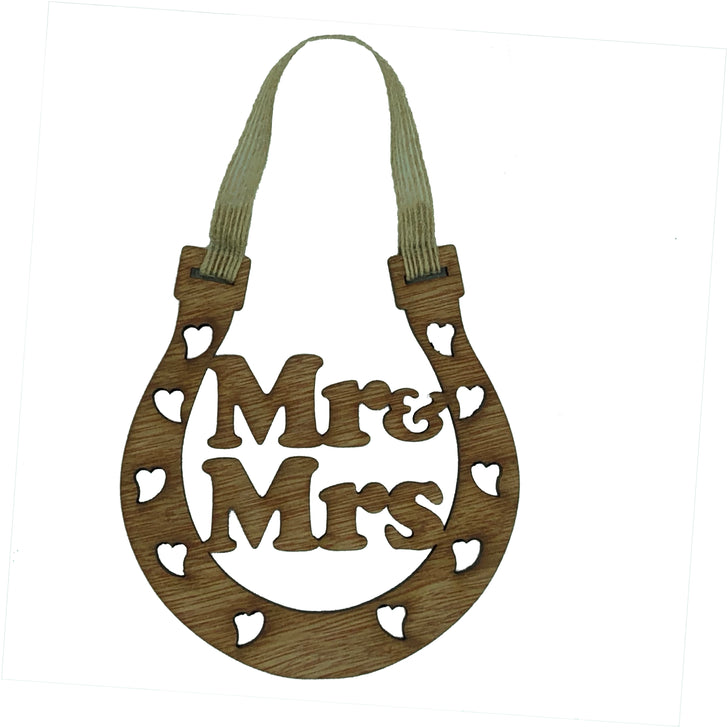 Good luck wedding horseshoe - Mr & Mrs
