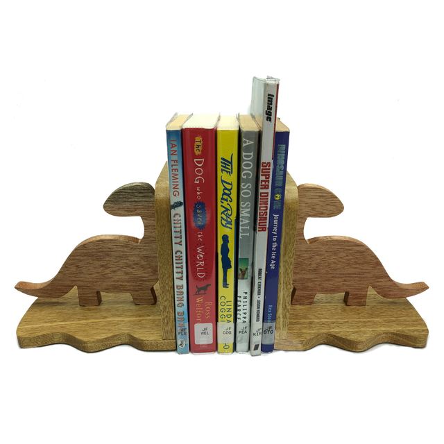 Dinosaur bookends - keep your books tidy