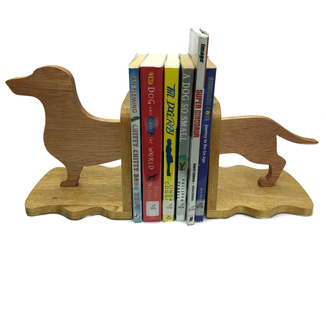 Dachshund sausage dog bookends -  keep your books tidy
