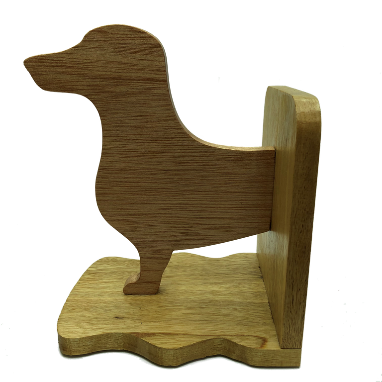 Dachshund sausage dog bookends - front half