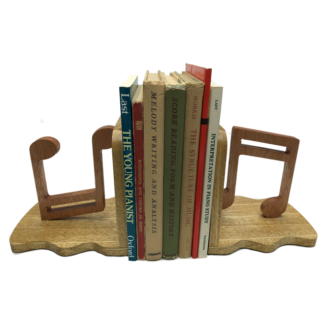 Music bookends - keep sheet music and books in order