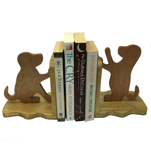 Labrador puppy bookends - keep your books tidy