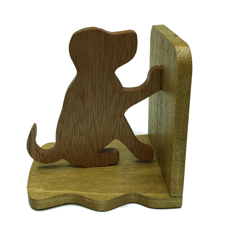 Labrador puppy bookends - seated puppy