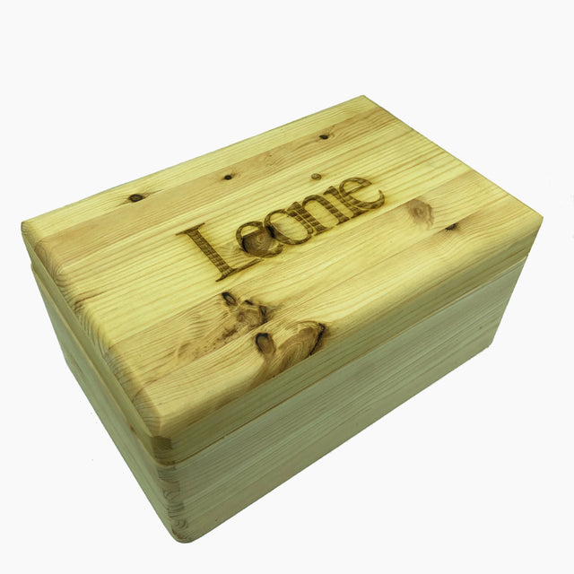 Personalised wooden keepsake memory box - large