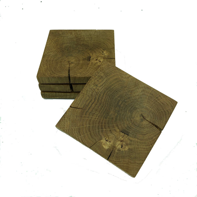 Coasters - square, rustic oak
