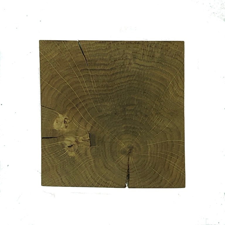 Square wooden rustic oak coasters - varnished with non-slip feet