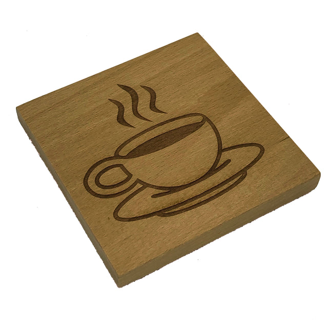 Wooden coaster - coffee cup
