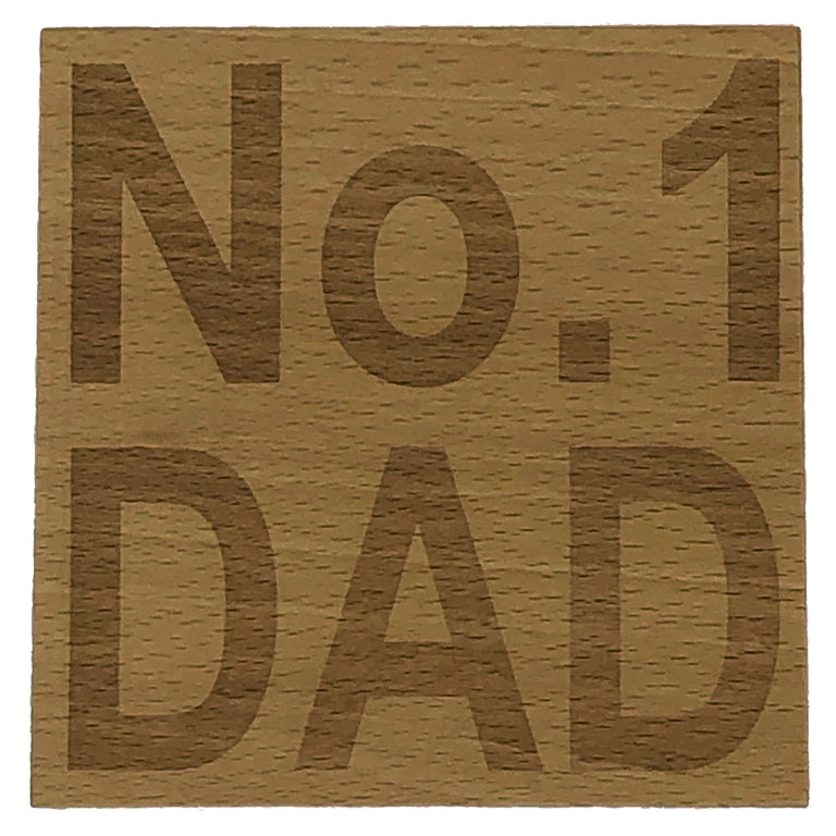 Wooden coaster - No. 1 Dad