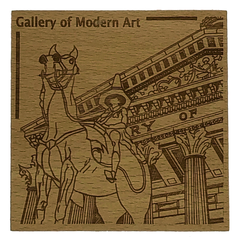 Glasgow landmark coaster - Gallery of Modern Art - GOMA