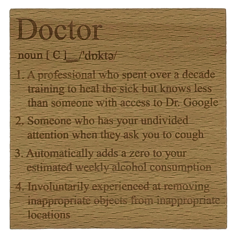 Wooden coaster - occupations - doctor