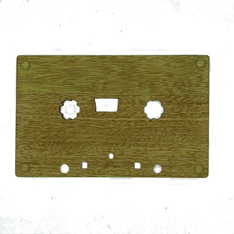 Wooden cassette - Dad's birthday mix tape - four non slip feet