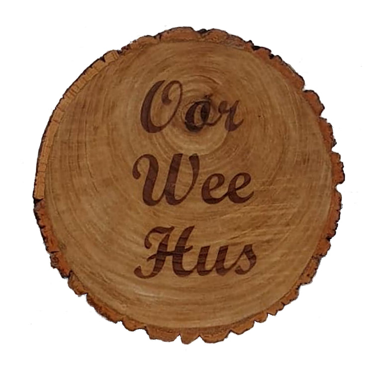 Personalised wedding gift - rustic wooden platter - bespoke
