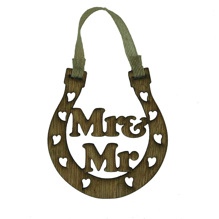 Lucky wedding horseshoe gift - Mr & Mr - personalised