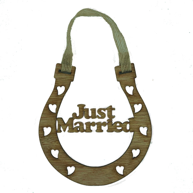 Lucky wedding horseshoe gift - just married