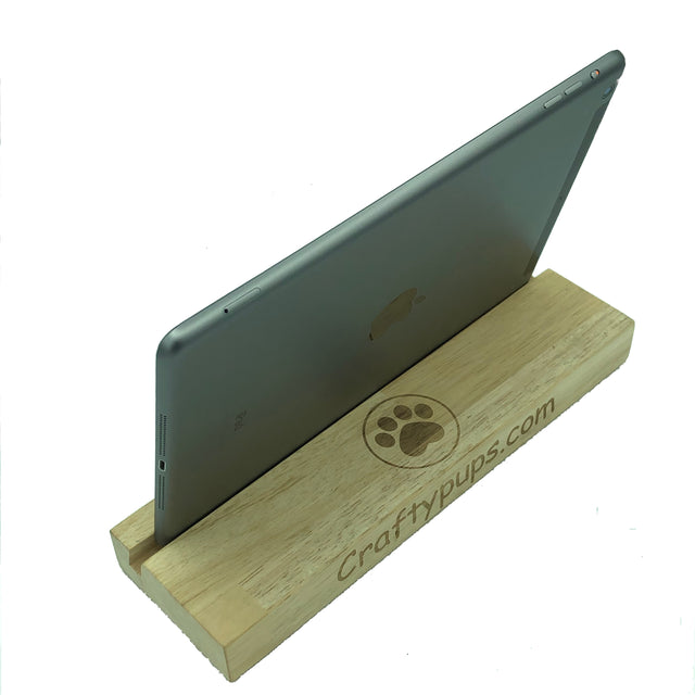 Personalised iPad tablet stand