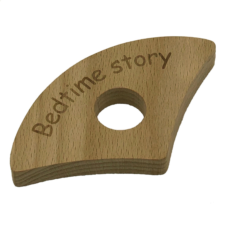 Wooden thumb book holder - bedtime story