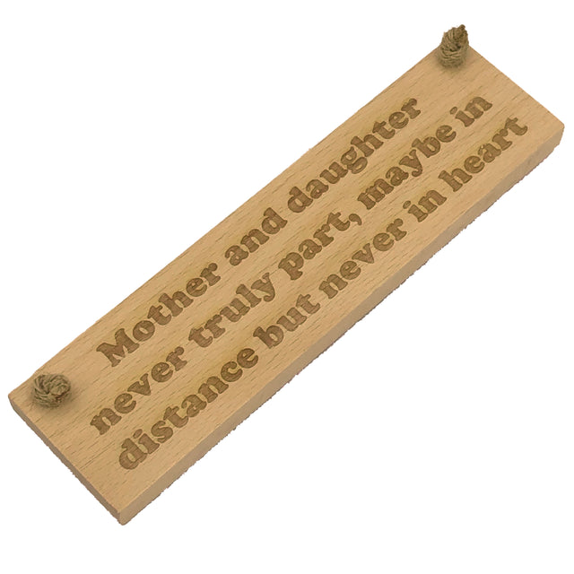 Wooden hanging plaque - mother and daughter never truly part