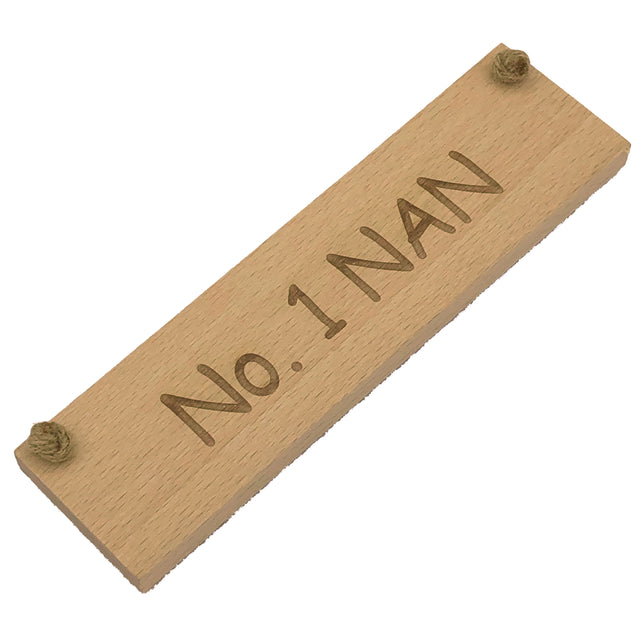 Wooden hanging plaque - No. 1 Nan