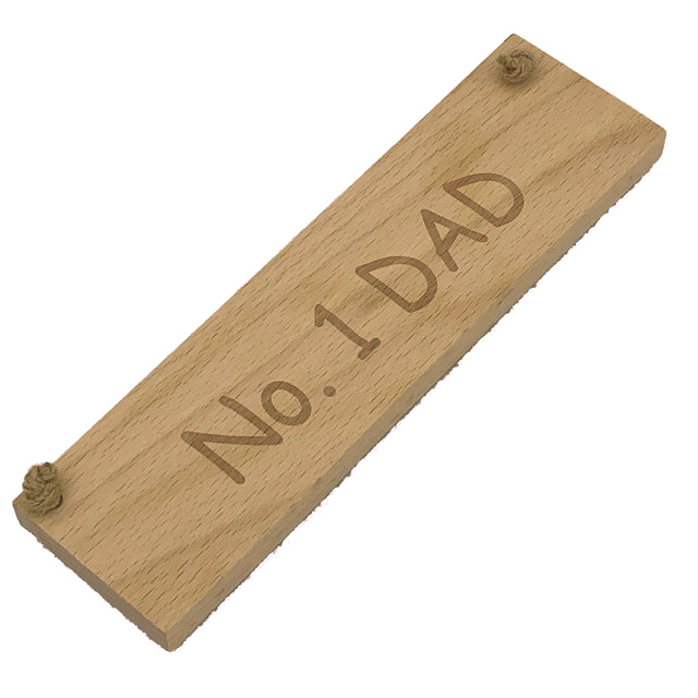 Wooden hanging plaque - No. 1 Dad